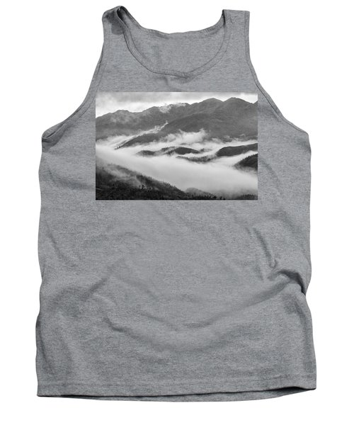 Tank Top featuring the photograph Clouds In Valley, Sa Pa, 2014 by Hitendra SINKAR