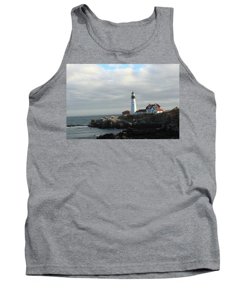 Clouds Over Portland Head Lighthouse 2 Tank Top