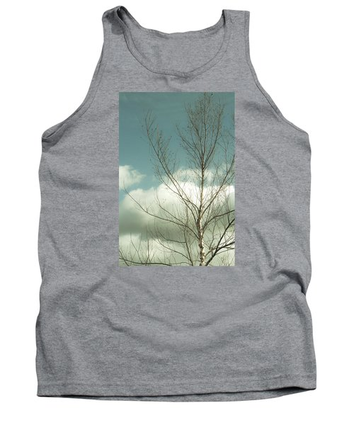 Cloudy Blue Sky Through Tree Top No 2 Tank Top by Ben and Raisa Gertsberg