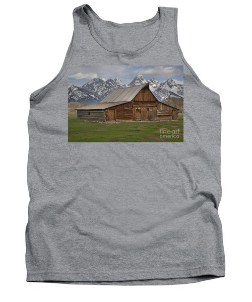 Cloudy Day At The Moulton Barn Tank Top by Adam Jewell