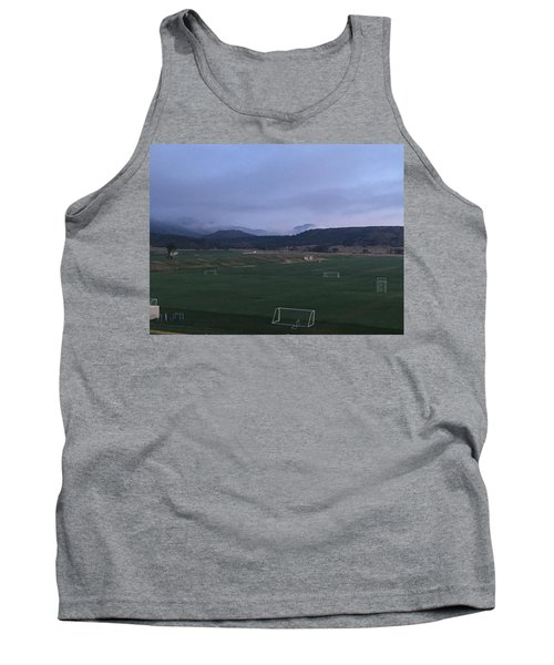 Cloudy Morning At The Field Tank Top