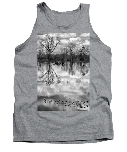 Tank Top featuring the photograph Cloudy Reflection by Hitendra SINKAR