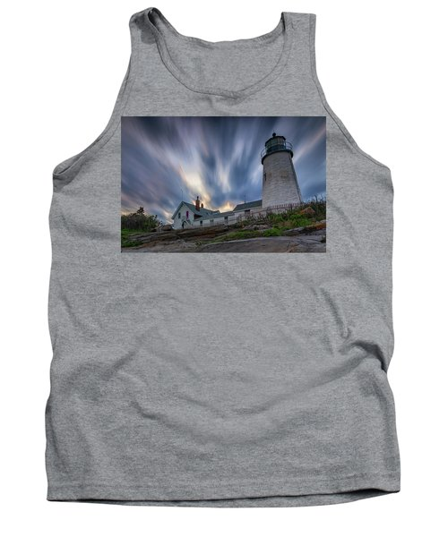 Cloudy Sunset At Pemaquid Point Tank Top
