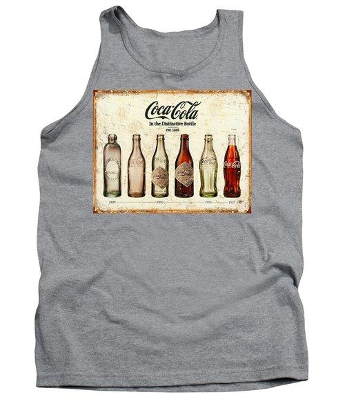 Coca-cola Bottle Evolution Vintage Sign Tank Top