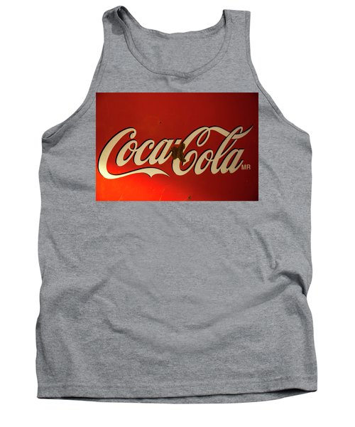 Tank Top featuring the photograph Coca-cola Sign  by Toni Hopper