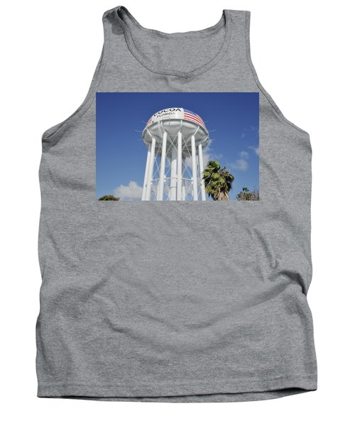Cocoa Water Tower With American Flag Tank Top