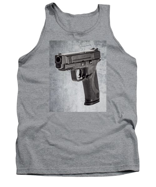 Cold, Blue Steel Tank Top by Andy Crawford