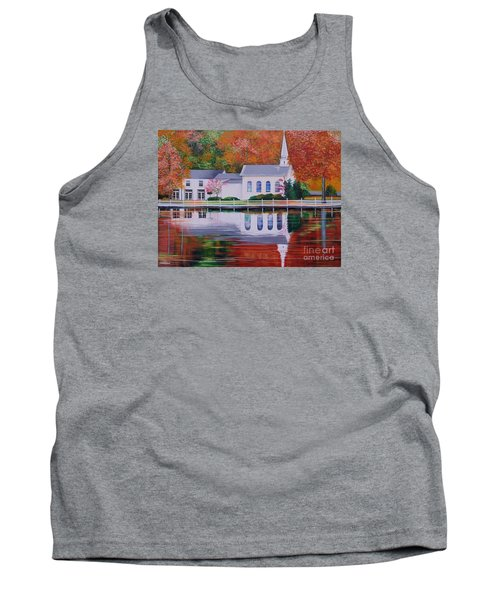 Cold Spring Harbor St Johns Church Tank Top by Nereida Rodriguez