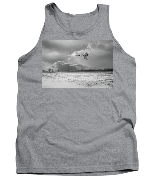 Tank Top featuring the photograph Cold War Warrior Bw Version by Gary Eason