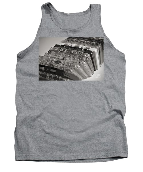 Collection Of Audio Cassettes With Domino Effect Tank Top by Angelo DeVal