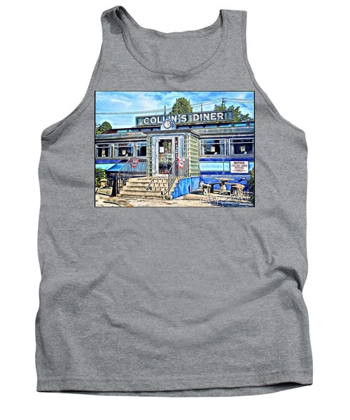 Collin's Diner New Canaan,conn Tank Top by MaryLee Parker
