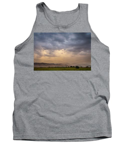Tank Top featuring the photograph Colorado Rocky Mountain Foothills Storms by James BO Insogna