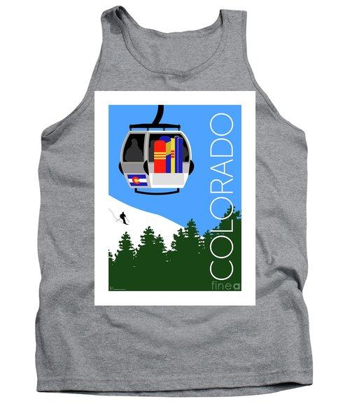 Colorado Ski Country Blue Tank Top