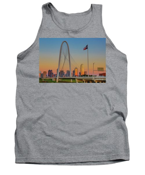 Colorful Dallas Sunset Tank Top by John Roberts