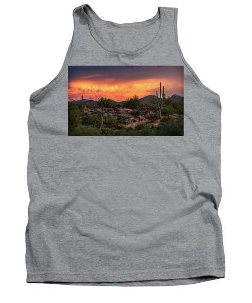 Tank Top featuring the photograph Colorful Desert Skies At Sunset  by Saija Lehtonen