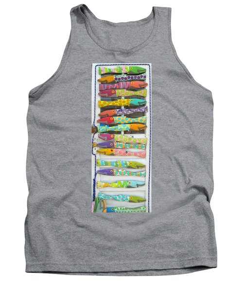Colorful Fish Tank Top by Barbara McDevitt
