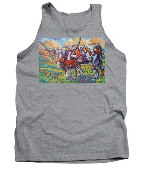 Tank Top featuring the painting Colorful Momma by Jenn Cunningham