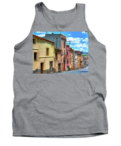 Colorful Old Houses In Tarragona Tank Top