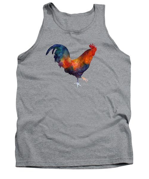 Tank Top featuring the painting Colorful Rooster by Hailey E Herrera