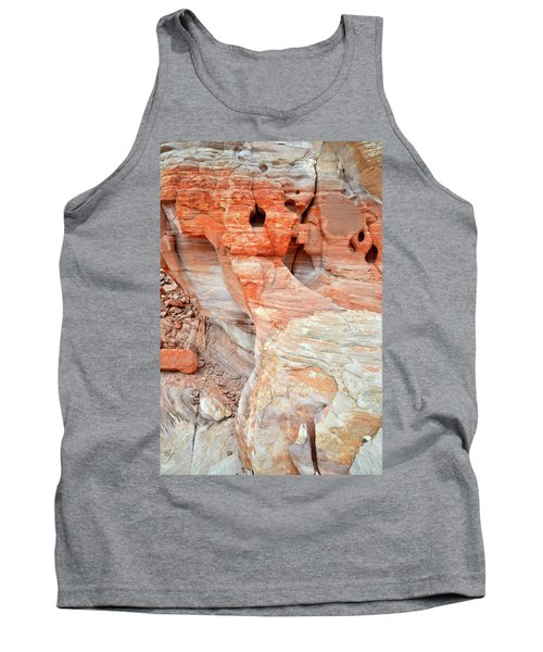 Tank Top featuring the photograph Colorful Wall Of Sandstone In Valley Of Fire by Ray Mathis