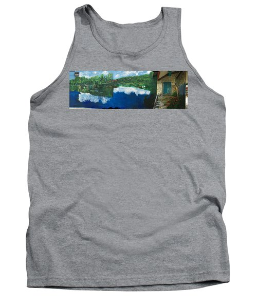 Coloring Holland V - Wall Four Tank Top by Belinda Low
