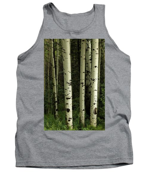 Tank Top featuring the photograph Colors And Texture Of A Forest Portrait by James BO Insogna