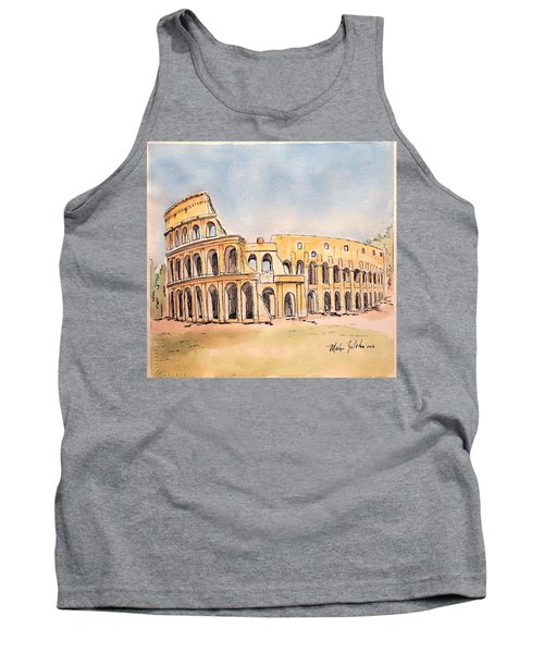 Tank Top featuring the painting Colosseum by Marilyn Zalatan