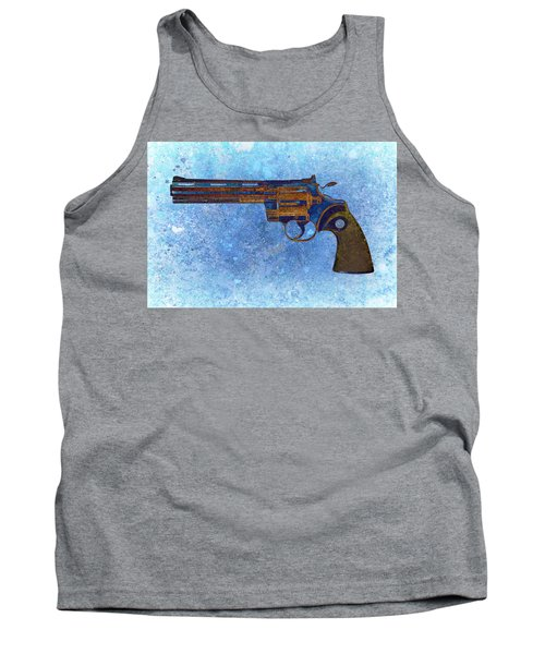 Colt Python 357 Mag On Blue Background. Tank Top by M L C