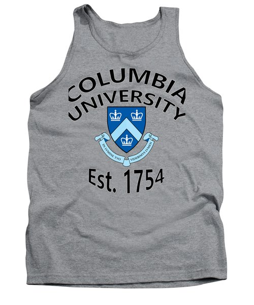 Tank Top featuring the digital art Columbia University Est 1754 by Movie Poster Prints