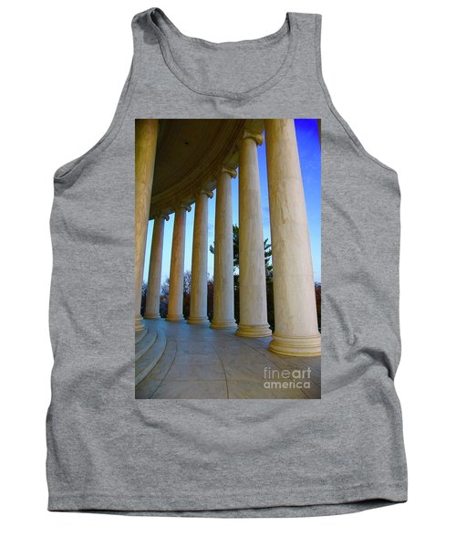 Columns At Jefferson Tank Top by Megan Cohen