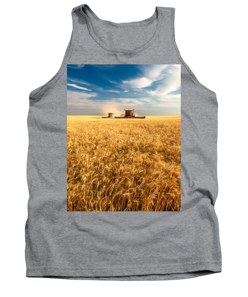 Combines Cutting Wheat Tank Top
