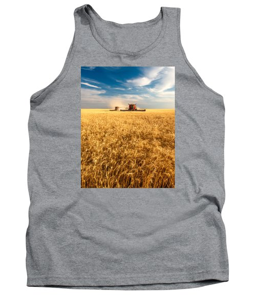 Combines Cutting Wheat Tank Top