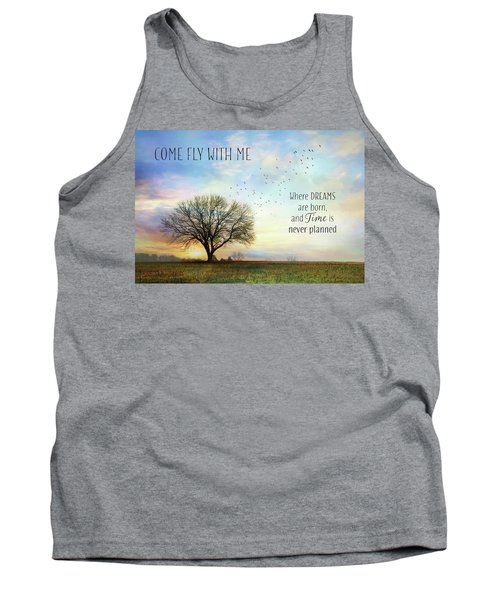 Tank Top featuring the photograph Come Fly With Me by Lori Deiter