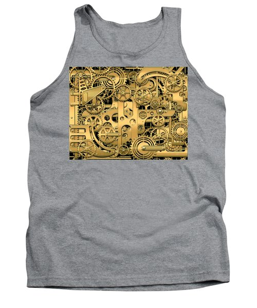 Complexity And Complications - Clockwork Gold Tank Top