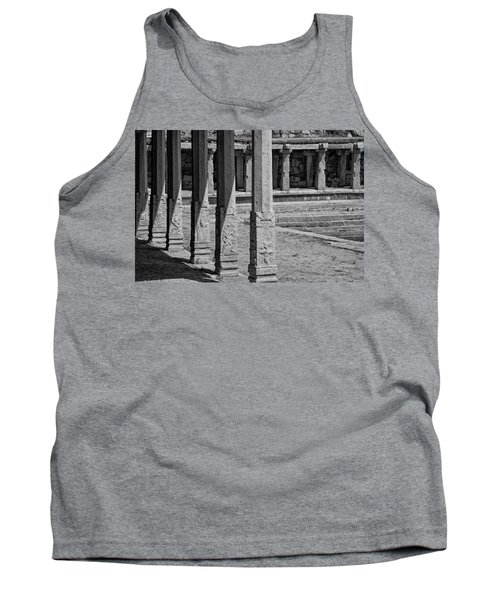 Tank Top featuring the photograph Composition Of Pillars, Hampi, 2017 by Hitendra SINKAR