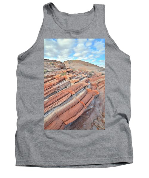 Concentric Circles Of Sandstone At Valley Of Fire Tank Top by Ray Mathis