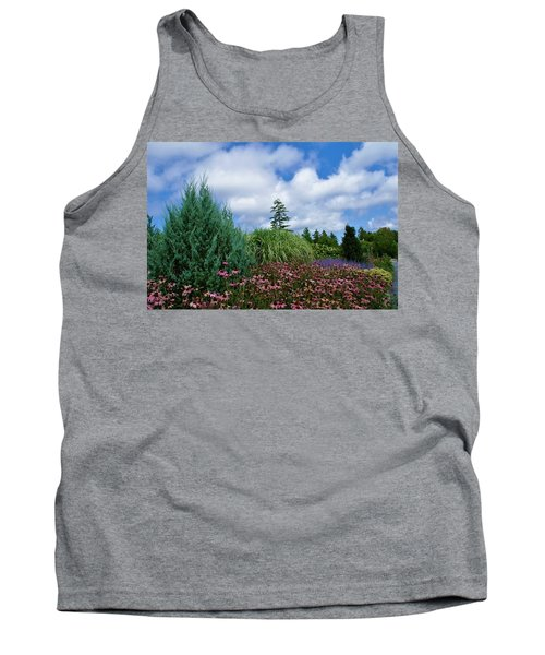 Coneflowers And Clouds Tank Top by Lois Lepisto