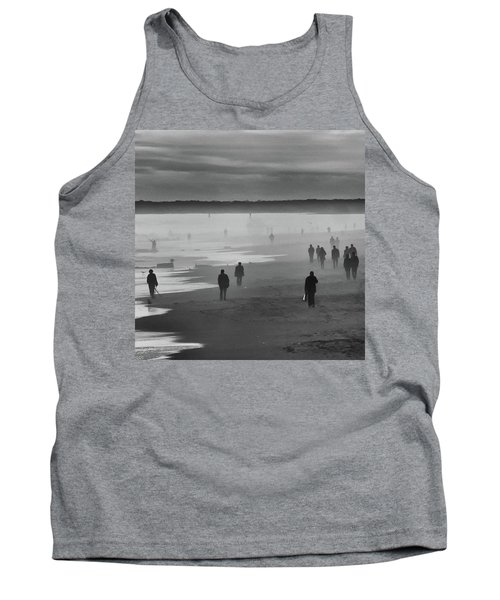 Tank Top featuring the photograph Coney Island Walkers by Eric Lake