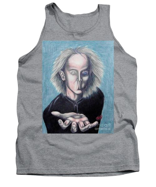 Tank Top featuring the drawing Consciousness by Michael  TMAD Finney