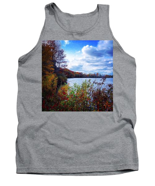 Conservation Park And Pine River In The Fall Tank Top