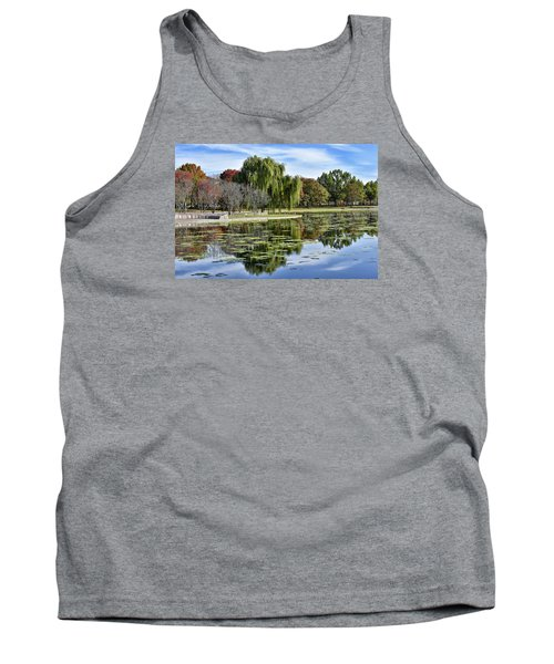 Constitution Gardens On The National Mall Tank Top by Brendan Reals