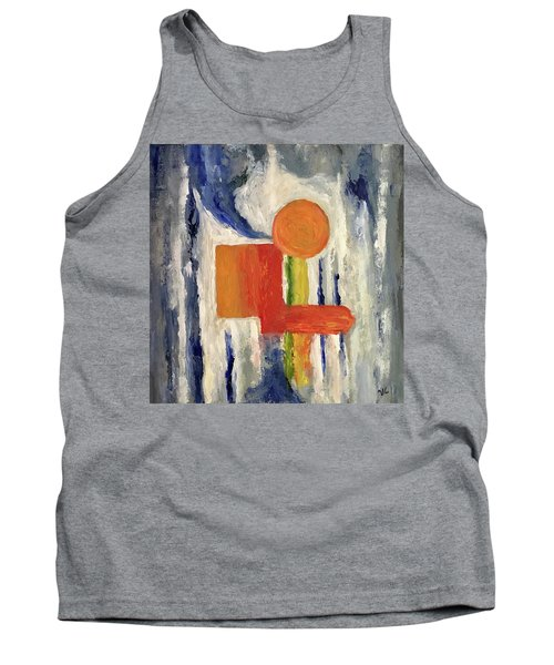 Tank Top featuring the painting Construction by Victoria Lakes