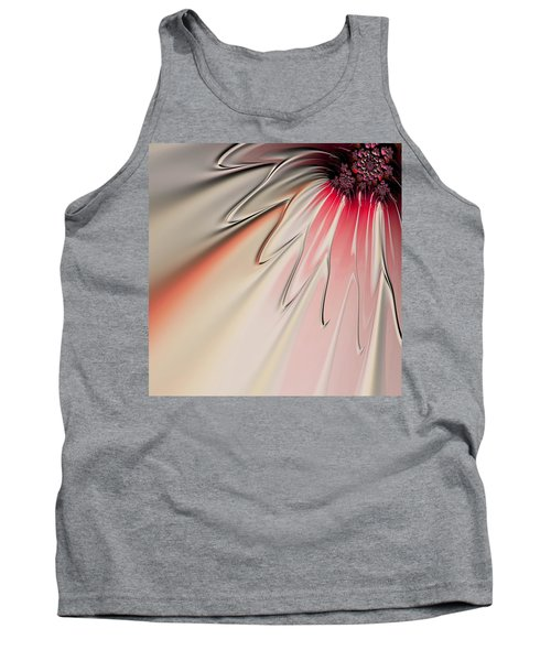 Tank Top featuring the digital art Contemporary Flower by Bonnie Bruno