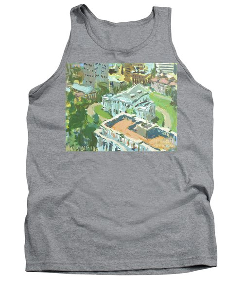 Contemporary Richmond Virginia Cityscape Painting Featuring Virginia State Capitol Building Tank Top