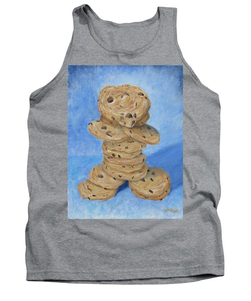 Tank Top featuring the painting Cookie Monster by Nancy Nale