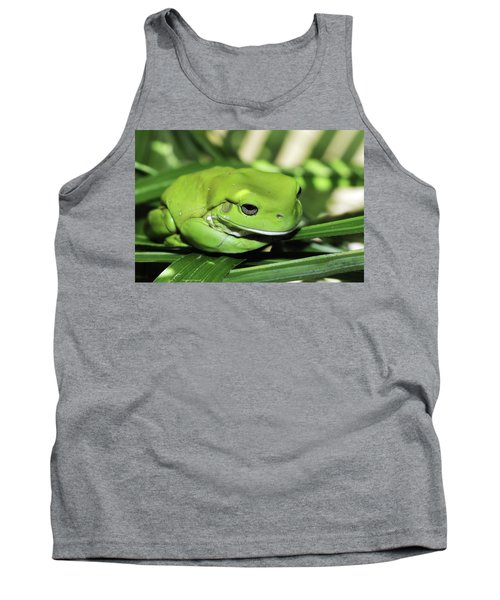 Cool Green Frog 001 Tank Top by Kevin Chippindall