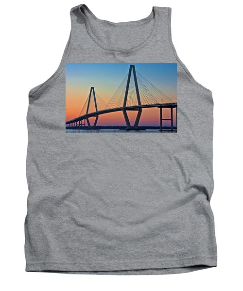 Cooper River Bridge Sunset Tank Top by Suzanne Stout