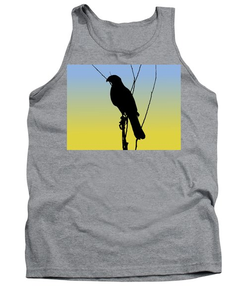 Coopers Hawk Silhouette At Sunrise Tank Top