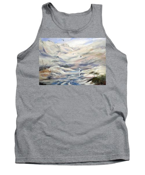 Tank Top featuring the painting Coorong, South Australia. by Ryn Shell