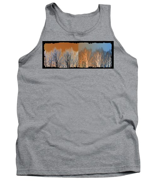 Tank Top featuring the digital art Coppertone Fusion by Will Borden